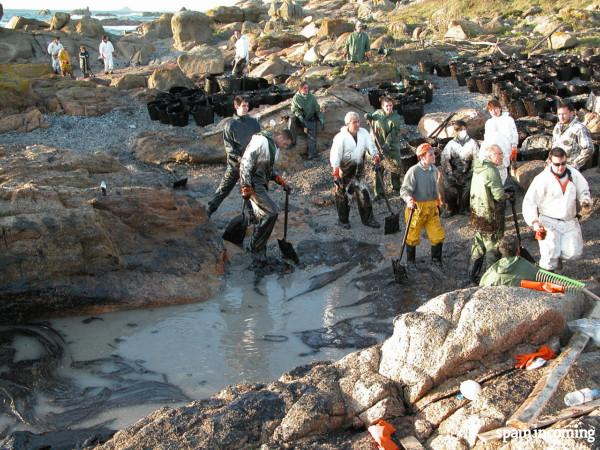 Prestige boat oil spill in Costa da Morte