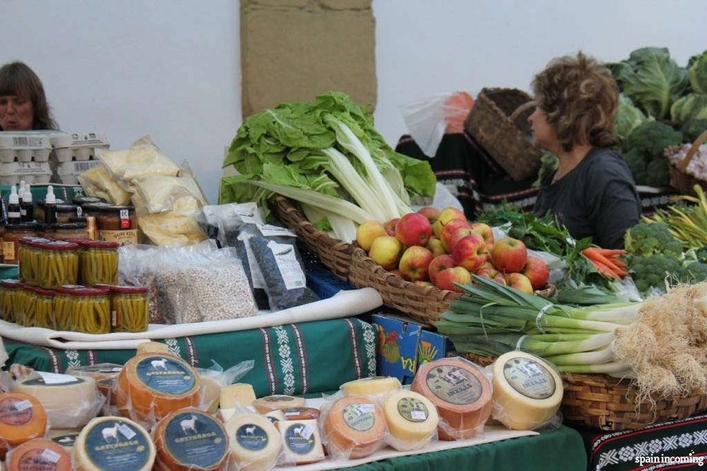 A Bretxa Market fresh vegetables and Idiazabal cheese