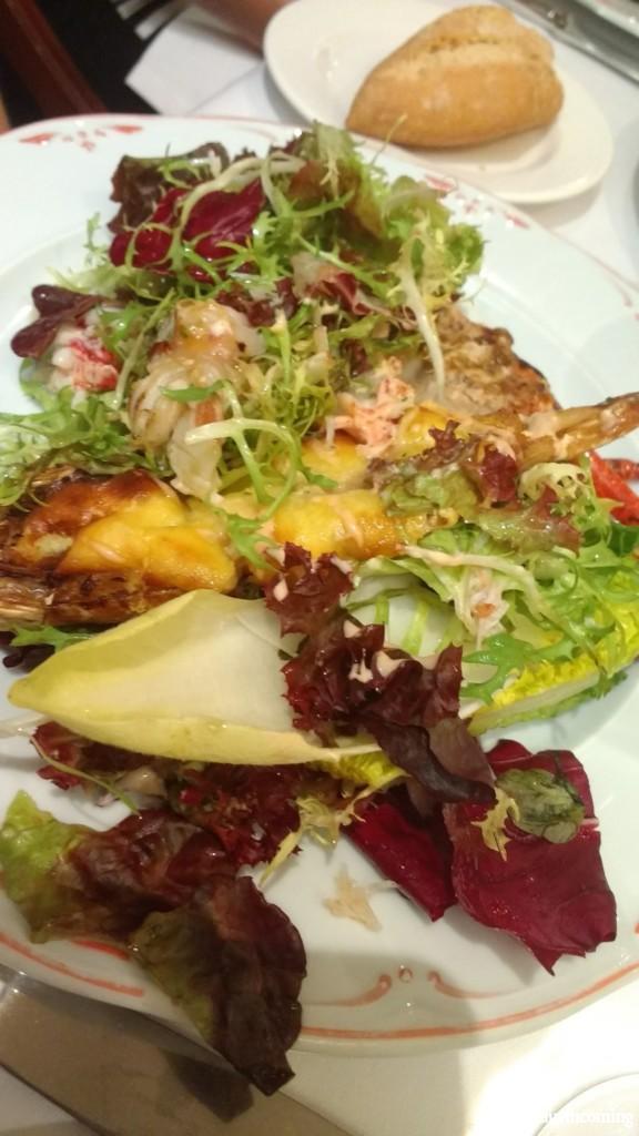 North of Spain cuisine: warm salad