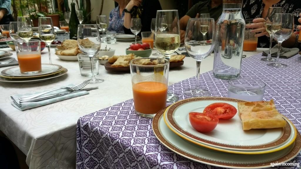 Show cooking table- Gazpacho