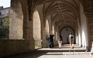 Not only facades: Pilgrims enjoying the interior of Mosteiro de Samos - French Way