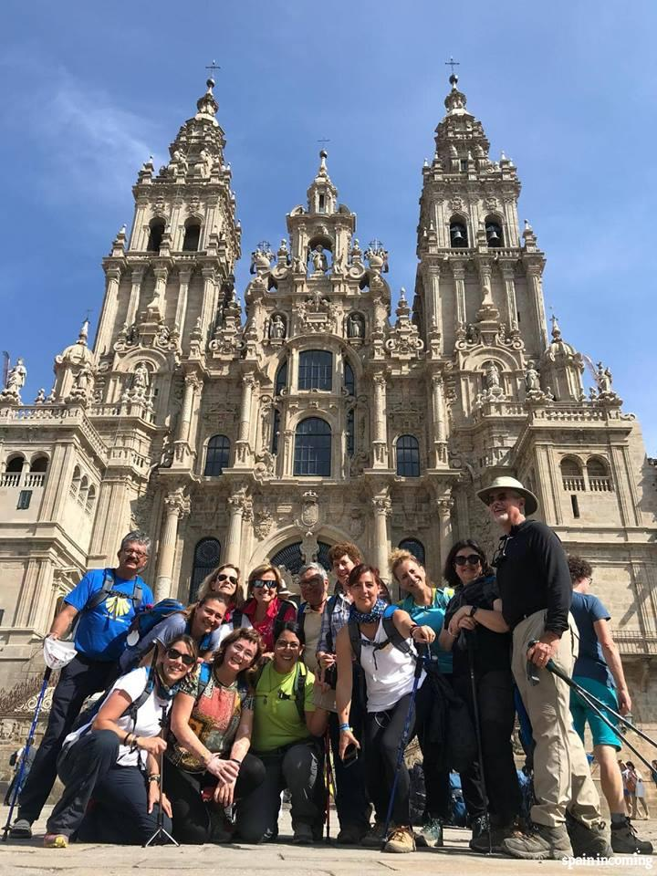 One of our groups at their arrival in Santiago de Compostela