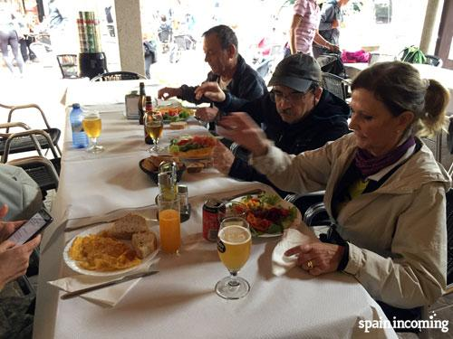 Tips for a successful Camino - Lunch