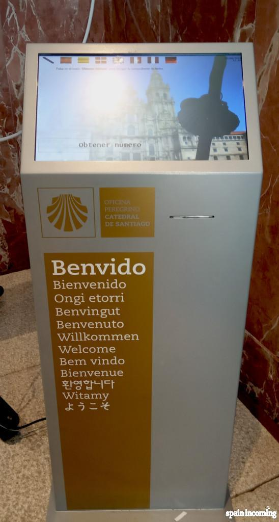Pilgrims Office: new Compostela Queuing system